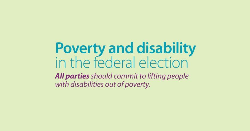 Vote Canada Disability Benefit   disability without poverty